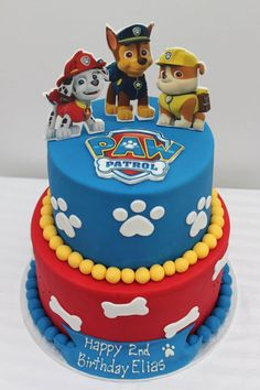 45 Magnificent Birthday Cake Designs for Kids - Paw patrol birthday cake - Cake Design Paw Patrol Birthday Cake, 3rd Birthday Cakes, Birthday Cake Card, Birthday Ideas, Birthday Celebration, Third Birthday, Paw Patrol Birthday Theme, Birthday Card Template, Birthday Design