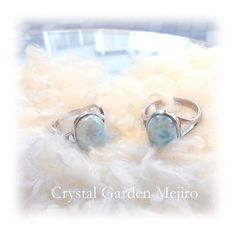 "Ring of larimarstone A light blue - crystal and angel, and healing one-house house"" Crystal Garden Mejiro "" Crystal Garden, Blue Crystals, Light Blue, Healing, Angel, Rings, House, Home, Angels"