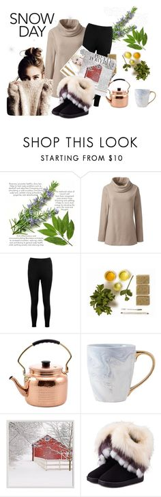 """""""Snow Day!"""" by julia-gnuechtel ❤ liked on Polyvore featuring Lands' End, Boohoo, Old Dutch, Pottery Barn, WithChic and plus size clothing"""