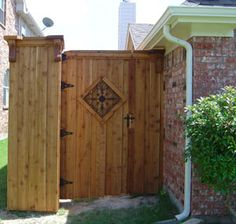 bamboo privacy fence with lattice - Google Search
