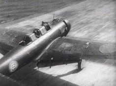 "Nakajima B6N carrier torpedo bomber ""Jill"" take off from the carrier Zuikaku in…"