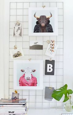 different options for hanging art besides the classic framed gallery wall