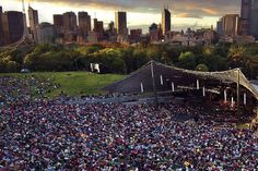 Outdoor picnic concerts at the Sidney Myer Music Bowl, Melbourne