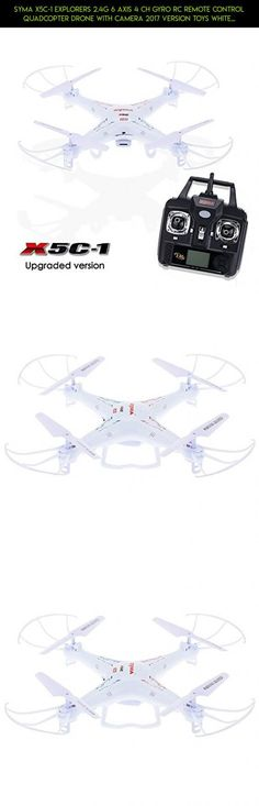 Syma X5C-1 Explorers 2.4G 6 Axis 4 CH Gyro RC Remote Control Quadcopter Drone with Camera 2017 Version Toys White, Upgraded Version #shopping #gadgets #camera #kit #products #2017 #fpv #drone #plans #tech #technology #parts #syma #racing