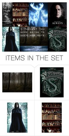 """""""Snape Aesthetic"""" by meranda-joi ❤ liked on Polyvore featuring art, harrypotter, snape, severussnape and AlanRickman"""