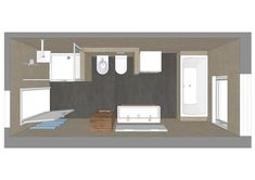 Bath planning for the hose bathroom - Living - Haus Design Ensuite Bathrooms, Bathroom Bath, Bathroom Floor Plans, Bathroom Flooring, Modern Bathtub, Modern Bathroom, Architectural Section, Bathroom Design Small, Home Office Design