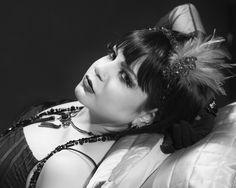 "https://flic.kr/p/GjCSDi | ""The Canary Murder Case"" | Photo by SteveO Model/MUA/Stylist Azadeh Brown #azadeh #azadehbrown #goth #gothmodel #alternative #alternativemodel #gothfashion #gothic #darkphotography #burlesque #elegant #model #modelling #vogue #persianmodel #persian #beauty #makeup #darkbeauty #vintage #eyes #fashion #femmefatale #doll #black #blacklace #1920s #1930s #artdeco #artnova #greatgatsby #cabaret #showgirl #hollywood #silentmovie #silverscreen #boudoir #louisebrooks"