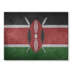 Grunge Kenya Flag Stretched Eco-Canvas