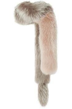 Lanvin                               Asiatic raccoon one-sleeve stole