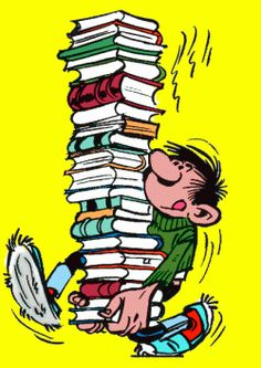 One can never have enough books I Love Books, Good Books, Books To Read, My Books, Flags Europe, Reading Art, Reading Cartoon, Book People, Funny Comics