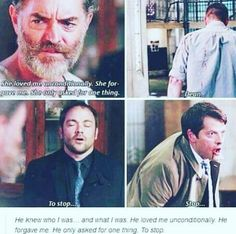 Tell me again how this wasn't intentional parallel?? Dean and Cas