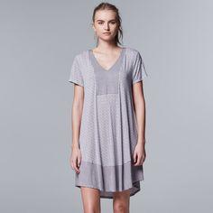 b93194f5225ae Women s Simply Vera Vera Wang Pajamas  Evening Oasis Short Sleeve Sleep  Shirt