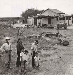 1954 photo of Manuel Ramirez and members of his family in front of their home in Starr County. They were relocated as a result of the joint U.S.-Mexico Falcon Dam construction project on the Rio Grande river. Wonderful family photo that shows a lot about their lives and the way they lived. I reckon that some of these folks might still be alive.