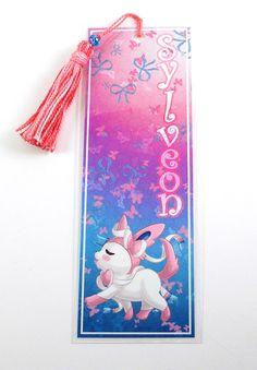 Laminated Bookmark with matching tassel of Sylveon ... sylveon, pokemon, bookmark