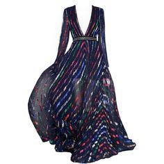 satinee.polyvore.com - Blumarine ❤ liked on Polyvore featuring dresses, gowns, long dresses, satinee, vestidos, blumarine, blue dress, long blue evening dress and long blue dress
