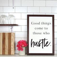 Hustle Farmhouse Print - Default / 30\