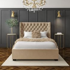 Buy Milania Double Ottoman Bed in Light Beige Velvet with Curved Headboard from - the UK's leading online furniture and bed store Beige Headboard, Velvet Headboard, Modern Headboard, Velvet Bed, Headboards For Beds, Beige Bedding, Fabric Headboards, Upholstered Headboards, Blue Bedroom Walls