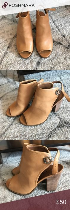 Lucky Brand Open Toe Boots Style LK-LISZA. Size 8. Super cute! Worn once. Comes with the original box. Lucky Brand Shoes