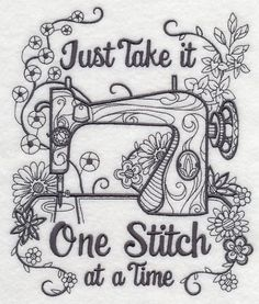 One Stitch At A Time design (M7283) from www.Emblibrary.com