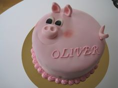 Pig birthday cake - For one of my kids who loves pigs!
