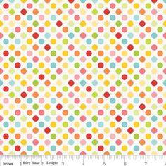 Fat quarter hello sunshine polka dot cotton quilting tissu-riley blake