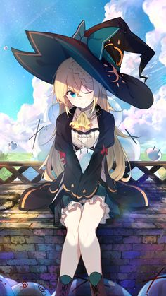 little witch [1080x1920/720x1280] Need #iPhone #6S #Plus #Wallpaper/ #Background for #IPhone6SPlus? Follow iPhone 6S Plus 3Wallpapers/ #Backgrounds Must to Have http://ift.tt/1SfrOMr