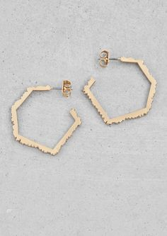 Wood-effect hoop earings | Wood-effect hoop earings | & Other Stories