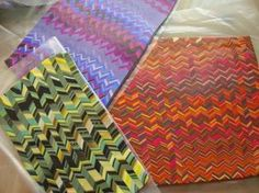Scrap Clay Idea #2 - Bargello from PolyClay Forum.  ~ Polymer Clay Tutorials