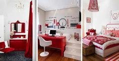 Pokój dziecka w odcieniach czerwieni: coś dla dziewczyn!