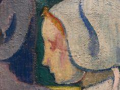 """BERNARD Emile,1892 - Les Bretonnes aux Ombrelles - Detail 13 - Tête de jeune Bretonne, au profil triste - Young breton girl' s head profile, in a sad mood - Tags : details détail détails detalles painting Orsay peinture """"19th-century"""" """"details of painting"""" tableau paintings female women woman girl femme """"jeune fille"""" fille jeune young """" Traditional costumes Bretagne """"Breton traditional costumes"""" """"costume traditionnel breton"""" France parasol parasols breton """"breton women"""" Brittany"""