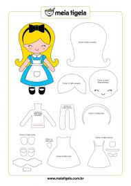 DIY gratuit poupée en tissu Alice Meia Tigela