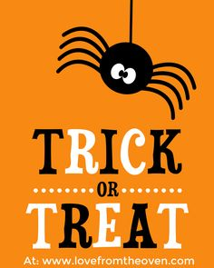 Free Halloween Printable Sign at Love From The Oven
