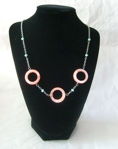 Chain Necklace  Mother of Pearl Necklace in by PixieBoneJewelry, $20.00