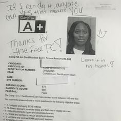 We are proud of our student who has passed compTIA a exam. #ASMChangeLives . For more information to get certified for Microsoft, CompTIA A+, Network+, Security+ and Cisco CCNA, CCNP   please visit: http://www.asmed.com/information-technology-it/