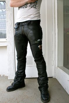 Leather pants by BoneBlack on Etsy, $650.00