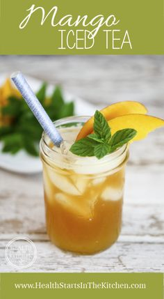 Delicious & Refreshing Mango Iced Tea | Mango season is one of the most delicious seasons of the year. Making my Mango Iced Tea isn't difficult and doesn't require any complicated ingredients or techniques.  @hsitk
