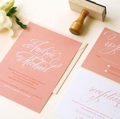 """Monochrome"" Wedding Invitation by J. Amber Creative"