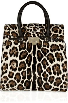 Jimmy Choo Rosabel Leopard-print Calf Hair Tote. Me muero !!! Animal Print #beautyintheBAG #BAGS #designer
