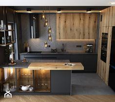 Minimal Kitchen Design, Kitchen Room Design, Home Room Design, Home Decor Kitchen, Interior Design Kitchen, Home Kitchens, House Design, Corner Kitchen Layout, Modern Kitchen Interiors