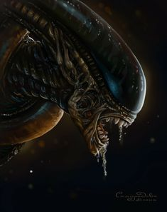 Aliens, Game Over Man, Alien Covenant, Alien Tattoo, Predator Alien, Alien Creatures, Life Form, Dark Horse, Sci Fi Art