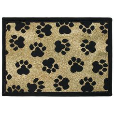 Gold World Paws Tapestry Indoor/Outdoor Area Rug