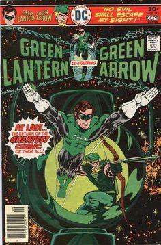 Green Lantern 90 co staring Green Arrow Bronze age DC comics Green Lantern Green Arrow, Green Lantern Comics, Green Lanterns, Dc Comic Books, Comic Book Covers, Comic Art, Old Comics, Vintage Comics, Vintage Books