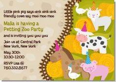 Petting zoo birthday party invitations zoo birthday petting zoo petting zoo birthday party invitations stopboris Choice Image
