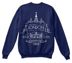 Don't Forget London A Dream 1922 Navy  Sweatshirt Front