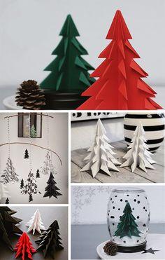 DIY | Origami Christmas Trees
