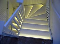 Great using led lighting to light the stair rather than stairwell