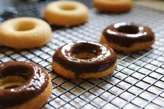 Gluten & Grain free Donuts with Chocolate Ganache.  So easy and delicious you will never buy a donut again.  #glutenfree #grainfree #recipes #healthy