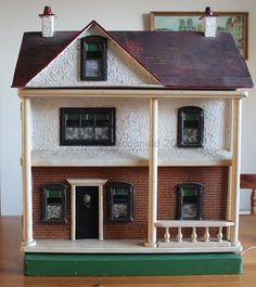 Vintage G & J Lines Dolls House Ref Rick Maccione-Dollhouse Builder… Antique Dollhouse, Antique Dolls, Vintage Dolls, Dollhouse Miniatures, Mini Houses, Miniature Houses, Little Houses, Fairy Houses, Doll Houses
