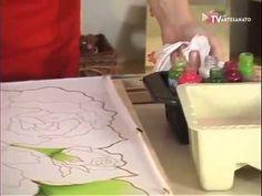 Pintura em Seda - Caminho de Mesa - YouTube