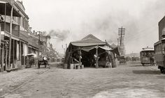 "Circa 1880s-1890s. ""The old French Market, New Orleans.""  Shorpy Historical Photo Archive :: The Old French Market: 1880s"